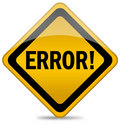 Error sign Stock Photography