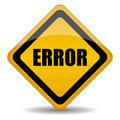 Error sign Royalty Free Stock Images