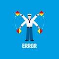 Error symbol from flag semaphore system