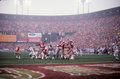 49ers Football at Candlestick Park. Royalty Free Stock Photo