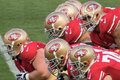 49ers Offensive Play Royalty Free Stock Photo