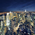 Erstaunliche Ansicht nach New York Manhattan - New York City Lizenzfreies Stockfoto