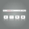Erstklassige medium video player knopf prüfer ikonen gesetzte vektorillustration Lizenzfreies Stockbild