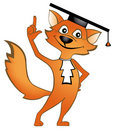 Erudite fox Royalty Free Stock Image