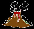Erupting Volcano Royalty Free Stock Photo