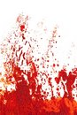 Eruption or explosion in orange red paint. Royalty Free Stock Images