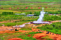 Eruption of Strokkur geyser in Iceland Royalty Free Stock Photo