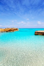 Es Calo de San Agusti port in Formentera island Stock Photos