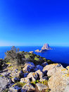 Es vedra on ibiza beautiful rock island balearic islands spain Royalty Free Stock Photography