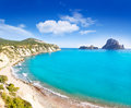 Es vedra island of Ibiza view from Cala d Hort Stock Photo