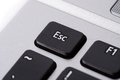 Esc button computer keyboard Stock Image