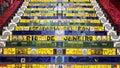 Escadaria selaron or lapa steps in rio de janeiro brazil detail of the neighborhood of Royalty Free Stock Photography
