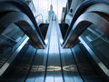 Escalator in basement Royalty Free Stock Photo