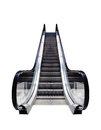 Escalator conceptual image escalators isolated on white background moving staircase to heaven easy opportunity to success Royalty Free Stock Images