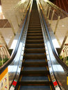 Escalator in department store Stock Photo