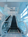 Escalator in department store Royalty Free Stock Image