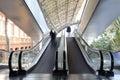 Escalator with a few peolple Royalty Free Stock Photo