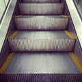Escalator going up urban transport selective focus Royalty Free Stock Image