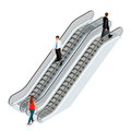 Escalator Image. Isometric Esc...