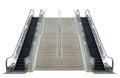 Escalator,isolated On White Ba...