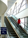 Escalator modern building Royalty Free Stock Photography