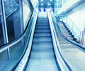 Escalator in modern interior Stock Photo