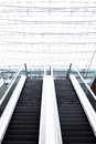 Escalator Office Building, background, overexposed Royalty Free Stock Photo
