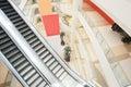 Escalator in shopping center Royalty Free Stock Photo
