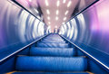 Escalator of the subway station in modern building Royalty Free Stock Photography