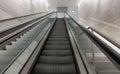 Escalator in an underground passage Royalty Free Stock Image