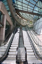 Escalators in a modern shopping centre in Sydney Australia Royalty Free Stock Photo