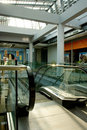 Escalators in shopping mall Royalty Free Stock Images