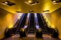 Escalators in the Smithsonian Metro Station, Washington, DC. Royalty Free Stock Photo