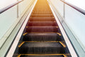 escalators stairway inside modern office building Royalty Free Stock Photo