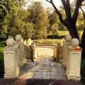 Escaleras viejas hermosas en el forest park Imágenes de archivo libres de regalías