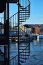 Escalier spiralé, Portsmouth, New Hampshire Image stock