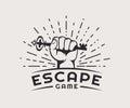 Escape game logo. Royalty Free Stock Photo