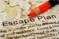 Escape plan close up of Stock Photos