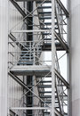 Escape route via exterior metal staircase Royalty Free Stock Photo