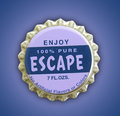 Escape Themed Bottlecap Stock Images