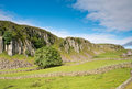 Escarpment of holwick scar this splendid known as the is part the whin sill in teesdale and popular with climbers Royalty Free Stock Images