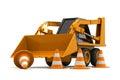 Escavatore under construction Fotografie Stock Libere da Diritti