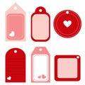 Escritura de la etiqueta de la tarjeta del día de San Valentín - vector Imagen de archivo