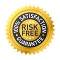 Escritura de la etiqueta Risk-free de la garantía Imagen de archivo libre de regalías