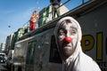 Esecutore che partecipa a milan clown festival Fotografia Stock Libera da Diritti