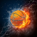 Esfera do basquetebol Fotografia de Stock Royalty Free