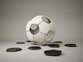 Esfera do futebol Foto de Stock Royalty Free