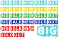 Eshop messages six colours set vector format included Stock Photo