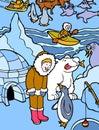 Eskimo in Alaska Royalty Free Stock Photo