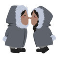 Eskimo couple  Royalty Free Stock Photo
